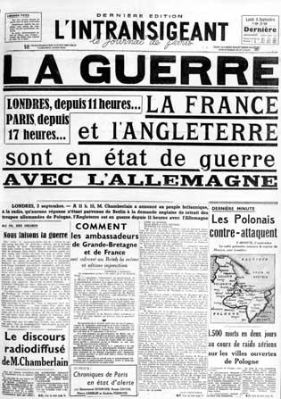 Declaracion de guerra de Francia e Inglaterra